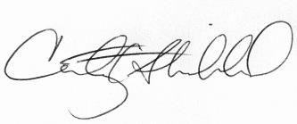 Courtenay's Signature Corrected