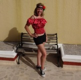 Me, in my own Carnaval get-up.