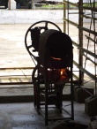 Roasting coffee in tiny, artisanal batches.