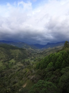 Cocora Valley, as seen from just outside Salento.