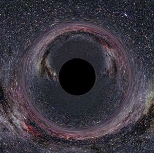 An artist's rendering of a black hole in the Milky Way, courtesy of Wikimedia Commons.