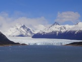 Our first look at the Perito Moreno Glacier, one of several glaciers in the park. The total area of this single glacier is greater than that of the Distrito Federal of Buenos Aires.