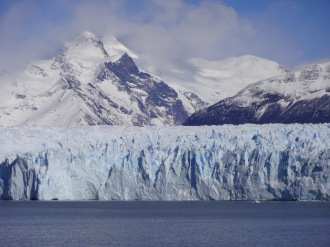 "Unlike most glaciers in the world, the Perito Moreno is ""in equilibrium"". Enough snow falls in the Southern Patagonia Icefield (which Wikipedia says is the world's 3rd largest reserve of freshwater) to allow the glacier to gain ice at the same rate it loses it at the terminus."