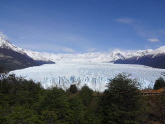 "The national park has built a series of beautiful raised walkways and stairs - referred to as ""The Balconies"" - into the side of the peninsula that faces the Perito Moreno's eastern edge. The Balconies are elegantly constructed into the hillside, offering incredible access without taking away from the views."