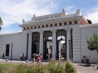 The entrance to the Recoleta Cemetery.