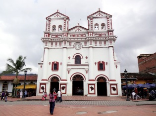 The cathedral in the town's main square.