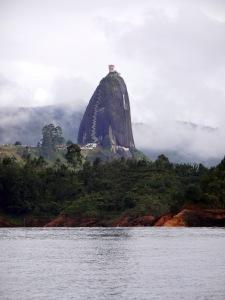 La Piedra, as seen from the Embalse Peñol-Guatapé (Peñol-Guatapé Reservoir).