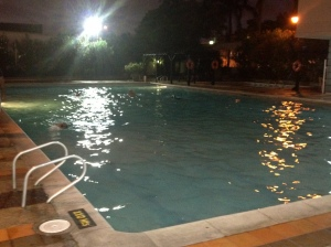 Swim some evening laps at Combarranquilla Boston.