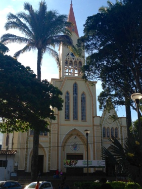 The church in Betania's town square.