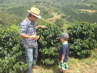 The head of Finca Los Ángeles took us on a personal tour.